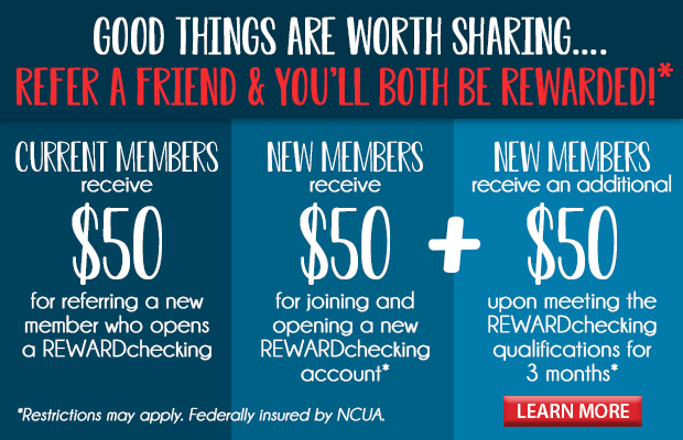 Refer a friend and you'll both be rewarded! Click here to learn more!