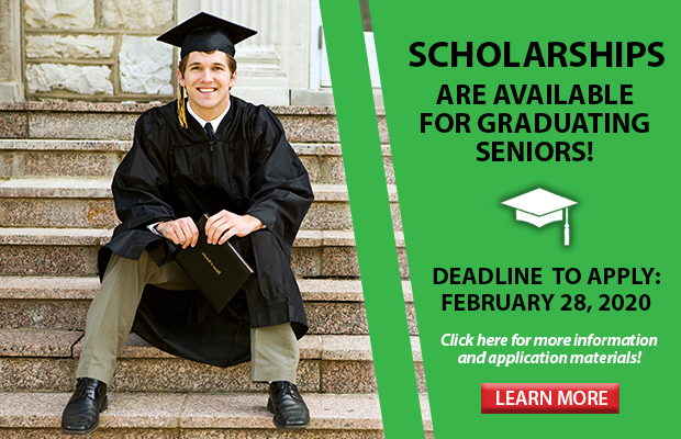 Scholarships are available for graduating seniors. Click here to learn more!