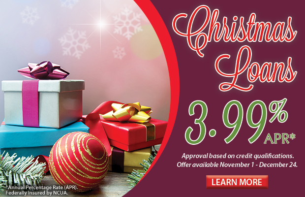 Christmas Loans Now Available. Click here for more information!